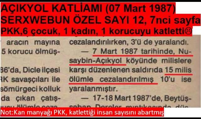 Pkk'nın kendi yayınından katliamı üstlendiğinin belgesi.