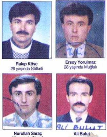 erzurum tekman'da pkk tarafından öldürülen öğretmenler