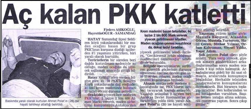 pkk'nın seldiren maden işçileri katliamı
