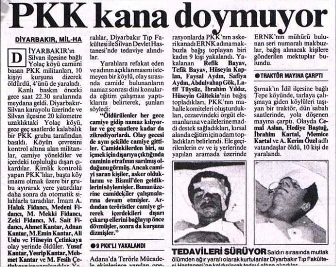 26 haziran 1992 pkk nın susa yolaç köyü katliamı